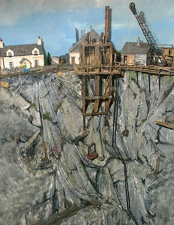 Isle of Seil, UK: Model of a working Slate Quarry