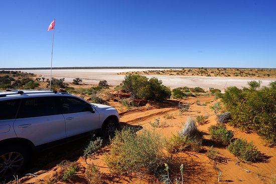 Birdsville, Australia: On our way back to camp from Poeppel Corner. A 201km round trip took us over 10 hours.