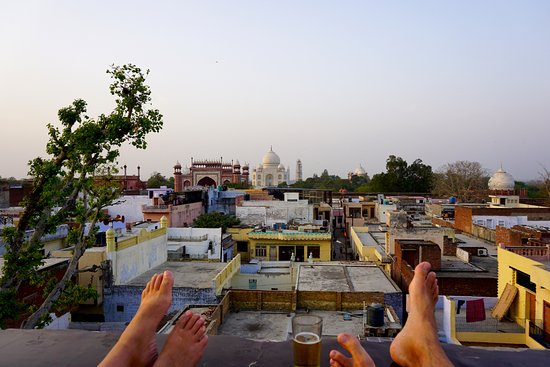 Wonderful Hotel Kamal: View From The Roof Terrace Onto The Taj Mahal