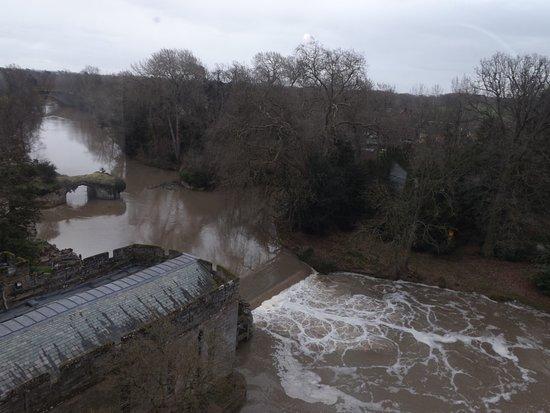 Rzeka Avon z okien zamki Warwick