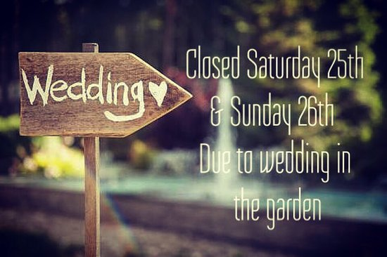 Robe, Australia: Closed Saturday 25th & Sunday 26th March due to our lovely wine garden being booked out for a we
