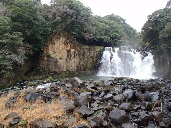 Sekinoo Fall: 吊橋からみた滝