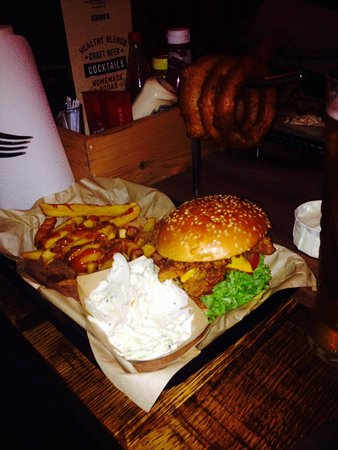 Castle Bromwich, UK: Chicken burger, onion rings were awesome