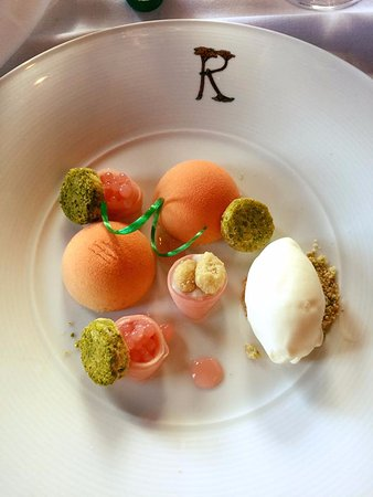 Rhubarb - The Restaurant at Prestonfield : Ignore my fork marks.....................was delicious