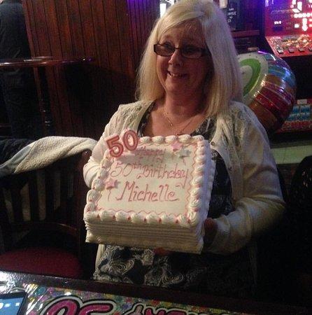 Prestwick, UK: My aunt enjoying her 50th