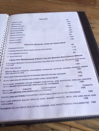 Italian Menu - Picture Of Kasar Rainbow Restaurant, Almora