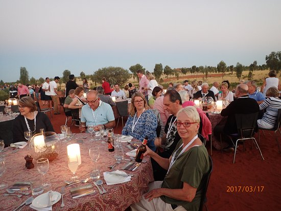 Yulara, Australia: Field of light Dinner