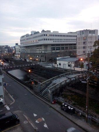 Nagasaki International Hostel Akari: View from the single room on the 3d floor.
