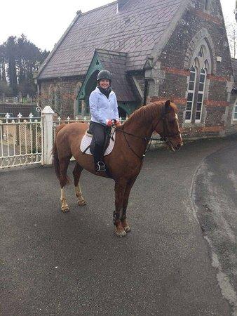 Glenealy, Ireland: happy rider!