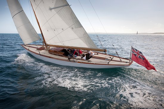St Mawes, UK: Pinuccia - our Classic International 8 Metre Yacht