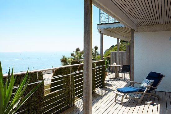 St Mawes, UK: Lamorran Suite - terrace/balcony