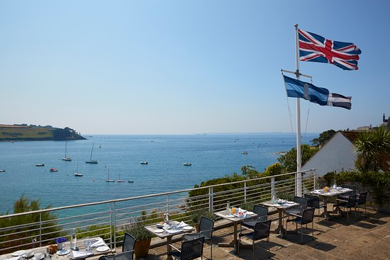 St Mawes, UK: Restaurant Terrace