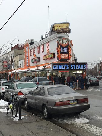 Photo of Restaurant Geno's Steaks at 1219 S 9th St, Philadelphia, PA 19147, United States