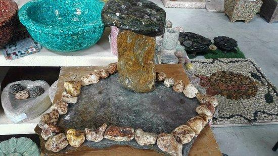 piedra color granada mini jardines zen hechos a mano