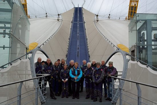 Up at The O2: Clacton Camera Club (first of two groups) for a camera shoot experience from the top of the dome