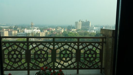 The Leela Palace New Delhi: View looking north from balcony of suite (912)