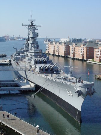 Battleship Wisconsin at Nauticus in Downtown Norfolk.
