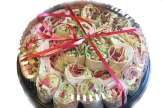 Villa Italian Specialities: Wrap Platters, Focaccia Sandwich Platters made with Fresh Mozz for your parties