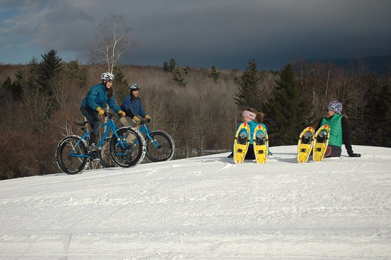 Ripton, VT: Fatbiking and snowshoeing are fun options.