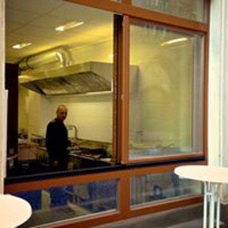 Stendal, Duitsland: Ladenfront und Chef