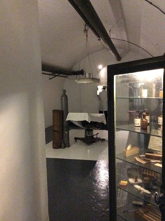 Jersey War Tunnels - German Underground Hospital: A view of the hospital surgical area