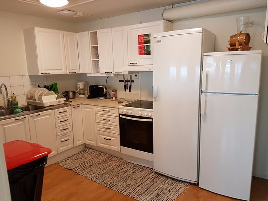 abisko guesthouse shared kitchen with 2 fridges you would not need to worry for - Shared Kitchen