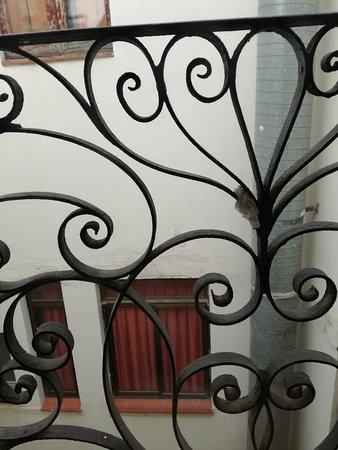 Hostal Benidorm: Dirty tissue on the balcony