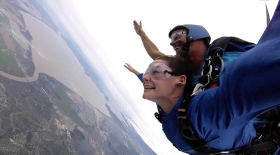 Novato, CA: Savannah having her first skydiving flight