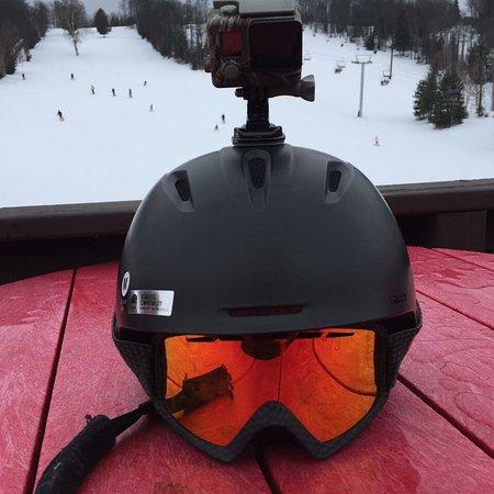 Haliburton, Kanada: Ski day at Sir Sams