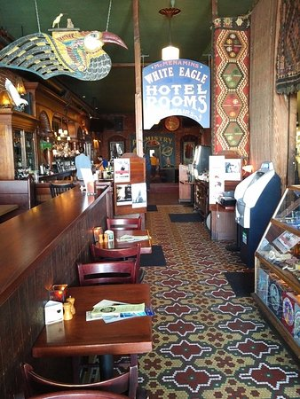 McMenamins White Eagle Saloon and Rock & Roll Hotel: The bar of the White Eagle Saloon.