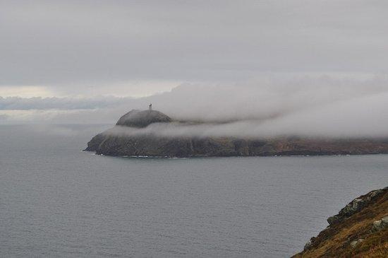 Port Erin, UK: Manannan's cloak meets Bradda Head!