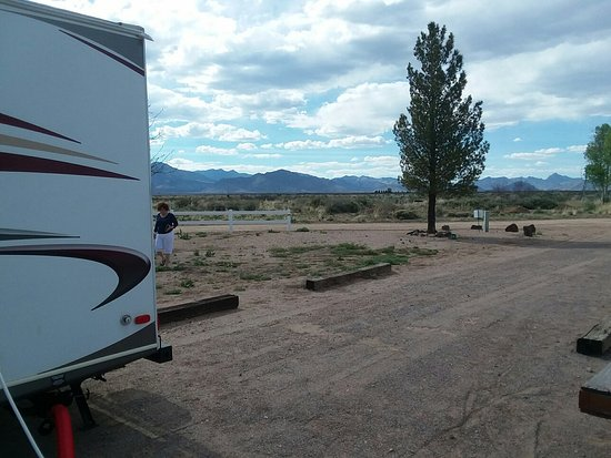 Rusty's RV Ranch: Looking west to the mans from our RV