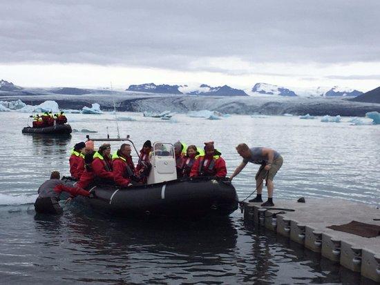 Hofn, IJsland: Launch site for the zodiac tour.