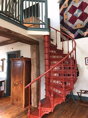 Cedarburg, WI: The way upstairs.