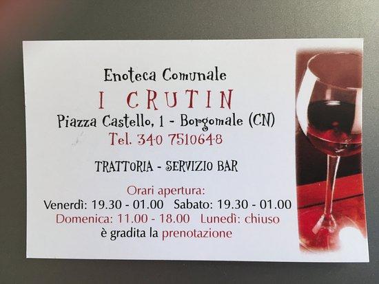 Borgomale, Italy: Adresse, Telefonnummer, Öffnungzeiten