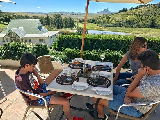 Van Reenen, Sudáfrica: View for lunch