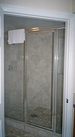 large shower with double shower heads picture of marriott s