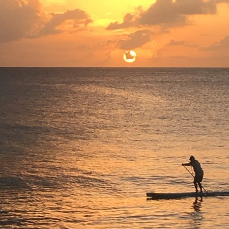 Prospect, Barbados: A subboarder happened to row into the sunset shot!