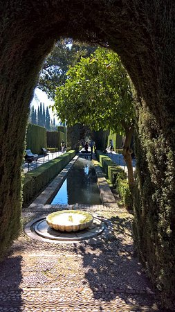 """Generalife: """"Entrance"""" from other end"""