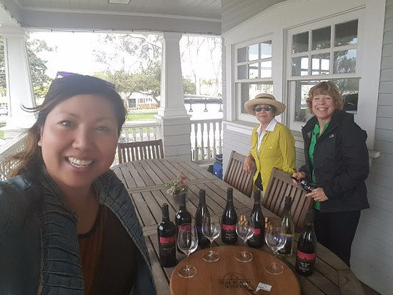 Seal Beach, CA: With Leigh - wine & cheese