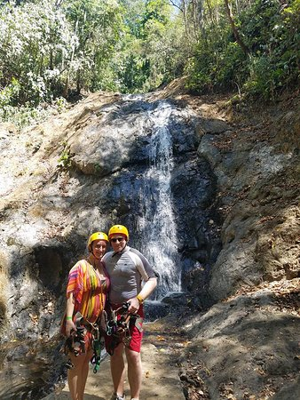 Costa Rica Holiday Rentals: Ocean Park Ranch Zipling and Waterfall Repelling was amazing