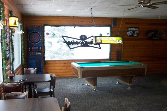 Tomahawk, WI: Pool Table & Dart Board in the Bar