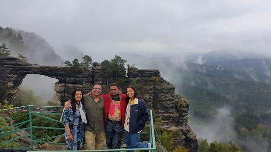 Krásná Lípa, Česká republika: My friends from India in Bohemian Switzerland