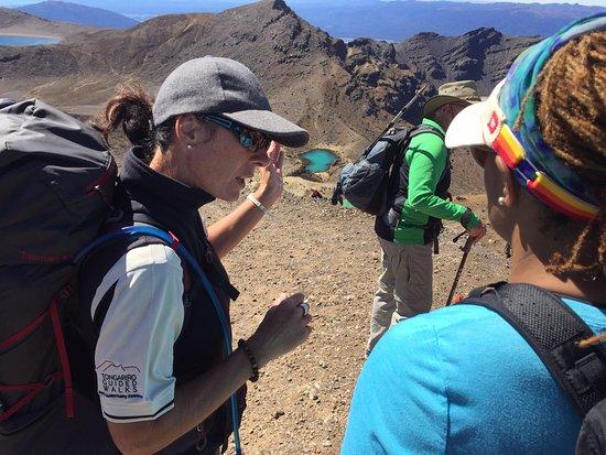 Turangi, Yeni Zelanda: Tracy explaining the way down