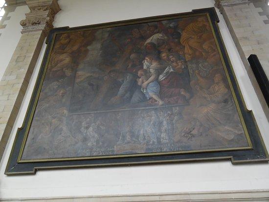 Bilzen, Belgium: Painting in the church