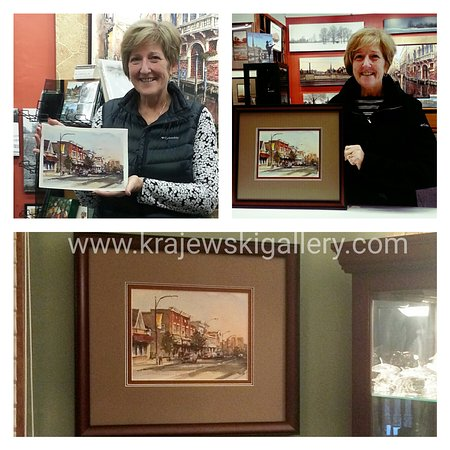 Cambridge, Canada: Commissioned painting by Alex Krajewski and framed at our gallery