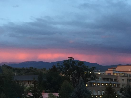 Inn and Spa at Loretto: View from balcony toward mountains
