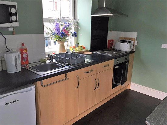 Blaenau Ffestiniog, UK: self catering kitchen
