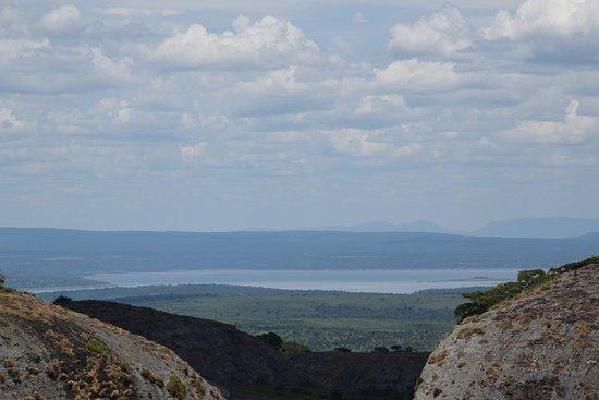 Malanje, Angola: Das pedras é possível ver o rio Kwanza