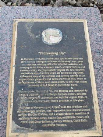 Cairo, IL: plaque commemorating Lewis and Clark's visit in 1803